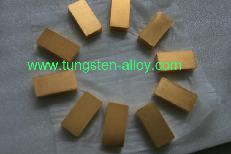 gold-plate tungsten alloy plate