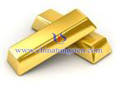 tungsten gold plate bars