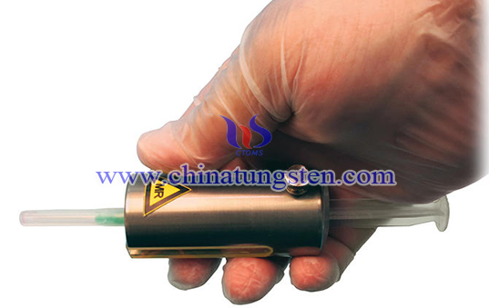 tungsten alloy MR syringe shield image