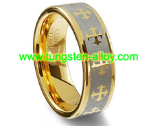 tungsten gold-plated ring