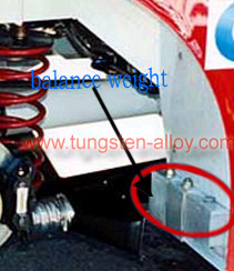 tungsten heavy alloy vehicle ballast