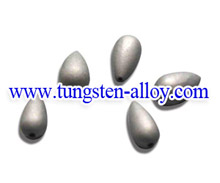 Water drop shape tungsten alloy